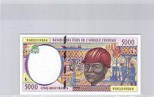 GABON ETATS DE L'AFRIQUE DE L'OUEST 5 000 FRANCS 1995 N° 9502319264 PICK 404Lb