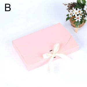 Boxes With Ribbon Solid Color Envelope Shape Packing box Gift Box Party Supplies