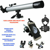 120X TELESCOPE FULL + TRIPOD FOR STAR AND PLANETS OBSERVATION + SMARTPHONE MOUNT