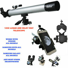 120X TELESCOPE FULL TRIPOD LUNAR AND MILKY WAY OBSERVATION + SMARTPHONE MOUNT