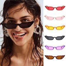 Small Cat Eye Fashion Women Sunglasses Flat Top Retro Vintage Clout Goggles