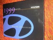 1999 HYUNDAI TIBURON SONATA ACCENT PRESS KIT