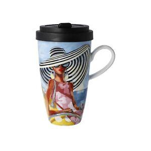 """GOEBEL Trish Biddle Mug To Go / Kaffeebecher To Go """"Summer Girl"""" - 67140261"""
