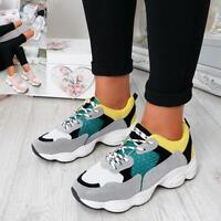 WOMENS LADIES RUNNING GYM CHUNKY TRAINERS SNEAKERS SHOES SIZE