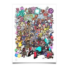 Destiny Characters Poster 18x24in, w/Guardians & Pre-Rise of Iron NPCs (Bungie)