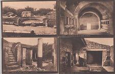 Lot 4 cartes postales anciennes ITALIE ITALIA ITALY POMPEI 5