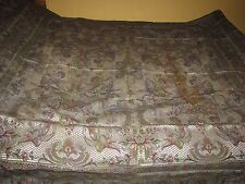 Vintage Antique 1940's ITALIAN Silk Damask CHERUBS Coverlet Bed Spread