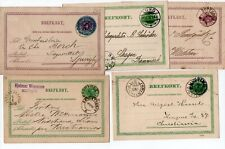 SWEDEN: Lot 5 PS/Postal stationery 1884-1900.