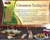 Cinnamon Toothpicks 40 ct 100% Pure Sri Lanka 100% world best Ceylon cinnamon