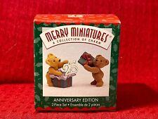 Anniversary Edition 2-Piece Set Hallmark Merry Miniatures 003-108