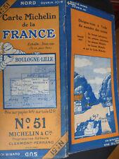 CARTE MICHELIN n°  51 boulogne lille  1927