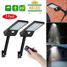 New listing 2x 48 Led Waterproof Solar Lamp Outdoor Garden Yard Pir Motion Sensor Wall Light
