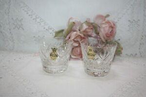 "Lovely Pair  Of Webb ""Georgian"" Cut Crystal Whisky / Tot Glasses 6 cm Tall 37"