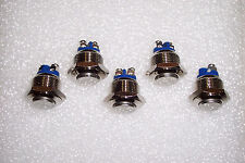 5 PCS 16 MM RAISED TOP MOMENTARY STAINLESS STEEL METAL PUSHBUTTON SWITCHES