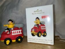 2011 HALLMARK FISHER PRICE LITTLE PEOPLE LIL MOVERS FIRE TRUCK TOY AND ORNAMENT
