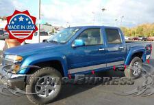 """2004-2012 Chevy Colorado/GMC Canyon Crew Cab W/Flare Rocker Panel Trim Chrome 4"""""""