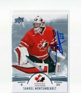 SAMUEL MONTEMBEAULT signed '16 Upper Deck TEAM CANADA card MONTREAL CANADIENS