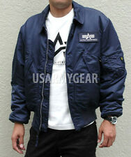Made in USA Alpha Industries CWU-45P Army Military Pilot Bomber AF Flight Jacket