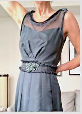 Vintage Couture Louis Vuitton Dress chiffon, velvet, silk bead & embroidery 38