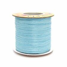 Homeford Firefly Imports Matte Raffia Ribbon, 1/4-Inch, 100 Yards, Light Blue#77