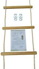 Strickleiter Kletterleiter Holzsprossen wetterfestes Holz