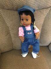 "Vintage Horsman Thirstee Baby African American Doll 16"""