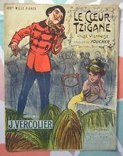 Valse Viennoise Le Coeur Tzigane par J. Vercolier - Illustration Léon Pousthomis