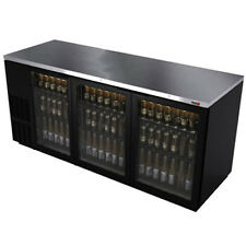 "Fagor Fbb-79G 80"" Refrigerated Back Bar Cabinet with 3 Glass Doors"