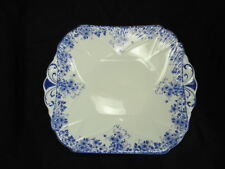 SHELLEY DAINTY BLUE SQUARE CAKE SERVING PLATE - GREAT CONDITION