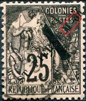 """COLONIES SAINT-PIERRE-et-MIQUELON N° 45 Oblitéré Variété """"M ET on RAPPROCHÉS"""""""