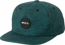 NWT RVCA Hi Tide 5-Panel Adjustable Snapback Hat Green Rubber Patch Front Logo