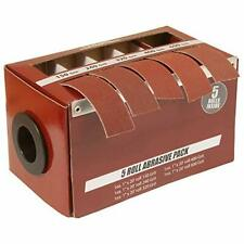 Boxed Multi-Roll Assorted Abrasive Rolls For Wood Turners Furniture Repair Wo.