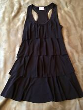 PRETTY WOMAN Black Sleeveless Ruffled Top Ladies Size Small Made in USA