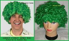 St PATRICK Green AFRO WIG Unisex Work Circus Clown Carnival Costume Party