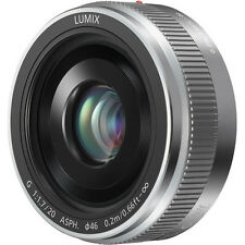 Panasonic Lumix G 20mm f/1.7 II Aspherical AF G Lens (Silver)