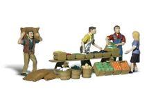 New Woodland HO Scale Farmers Market Train Figures A1896