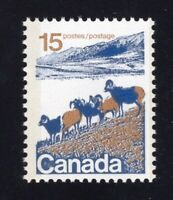Canada 1972 Sc #595vi 5c Mountain Sheep Type II Hibrite Paper VF NH Mint