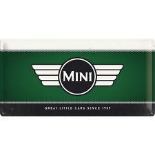 MINI LOGO GREEN  Blechschild 25x50 cm  - Sign Signs Werkstatt  27015 BMW