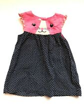 H&M Kitty/ Bunny Pull-Over Corduroy Polka Dot Dress Size 6-9 Months