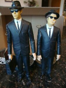 """Vintage 1992 SNL The Blues Brothers Jake Elwood 10"""" Action Figures w/Tags CD LOT"""