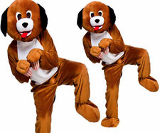 Adult Playful Puppy Fancy Dress Mascot Costume Animal Dog Hound Pet Unisex