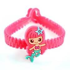 10Pcs Mermaid Rubber Bangle Bracelet Decorations Kids Shower Party Favors