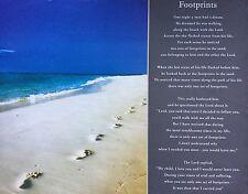 FOOTPRINTS Poster - Inspirational Print Medium Size ~ Religious Poem Poster