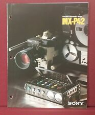 Vintage 1985 Sony Portable Automatic Mixer MX-P42 Fold-out Brochure 6pp