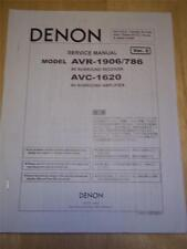Denon Service Manual für AVR-1906/786 ~ AVC-1620 Amplifier ~ Original ~ Reparatur