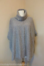 Le Pavot Wool Heather Gray Turtleneck Overlap Front Pullover Sweater Sz S