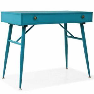 vidaXL Bureau avec Tiroir Vert Antique Table d'Ordinateur Table Console Décor