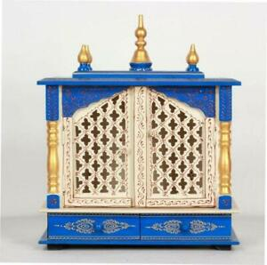 Rajasthani Ethnic Handcrafted Wooden Temple (18 x 9 x 21 Inch), Express Shipping