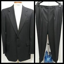 Hickey Freeman Gray Pinstripe Suit Wool Cashmere Mink 42 Long Collection