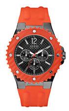 Guess W11619G4 Reloj de Hombre Overdrive - Flexible Correa de Silicona Naranja